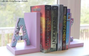How to Make Personalized Bookends - Easy and Budget Friendly