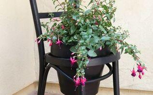 terra cotta chair planter