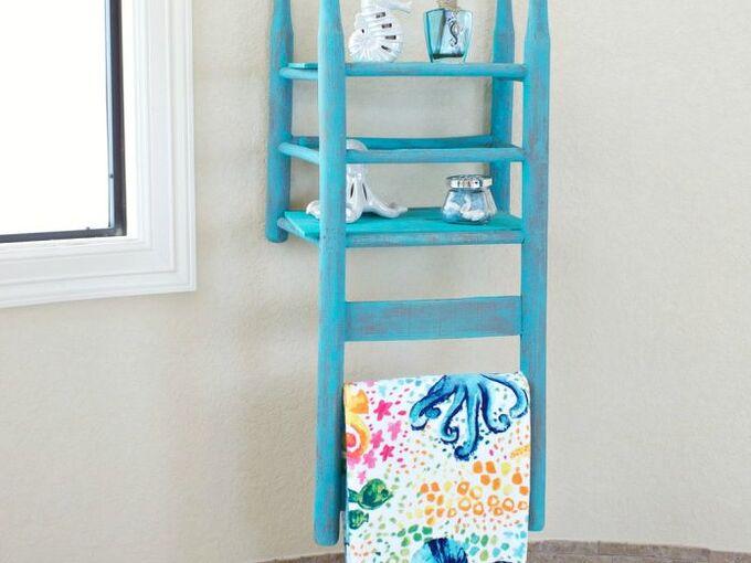 chair shelf decor tutorial