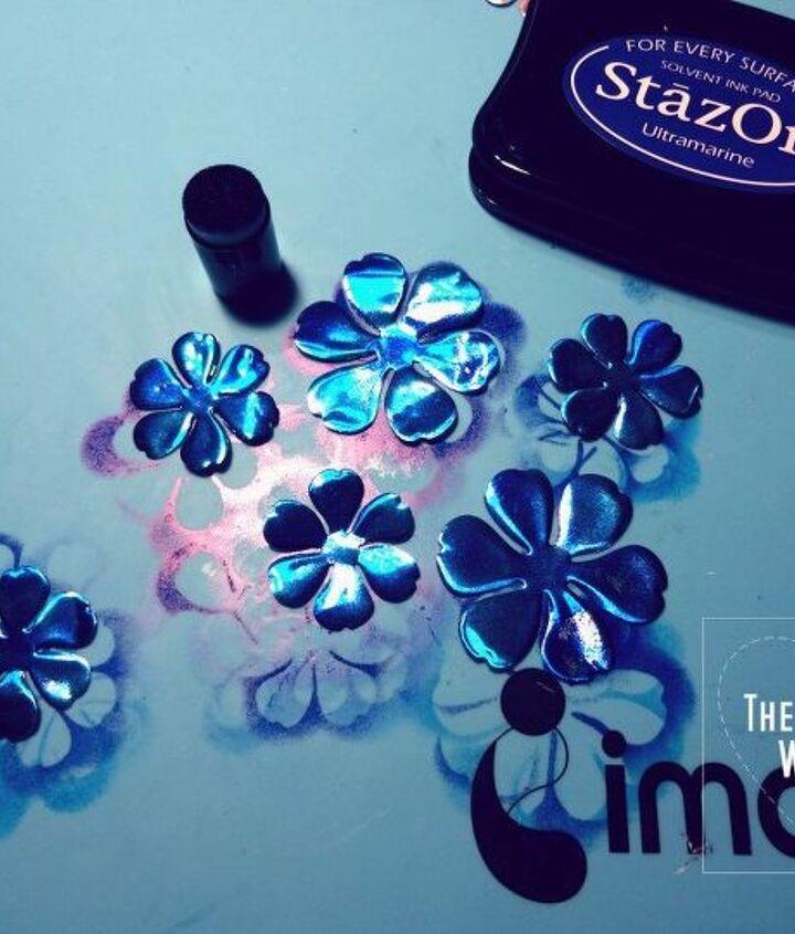 lapis blue floral napkin rings