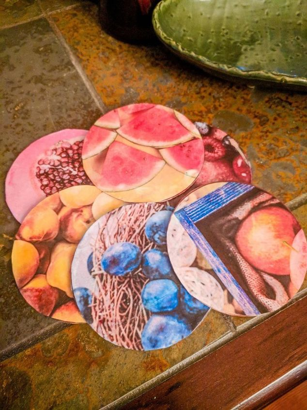 How To Upcycle Free Olive Garden Coasters You Need To See Them - Coasters with photos on them
