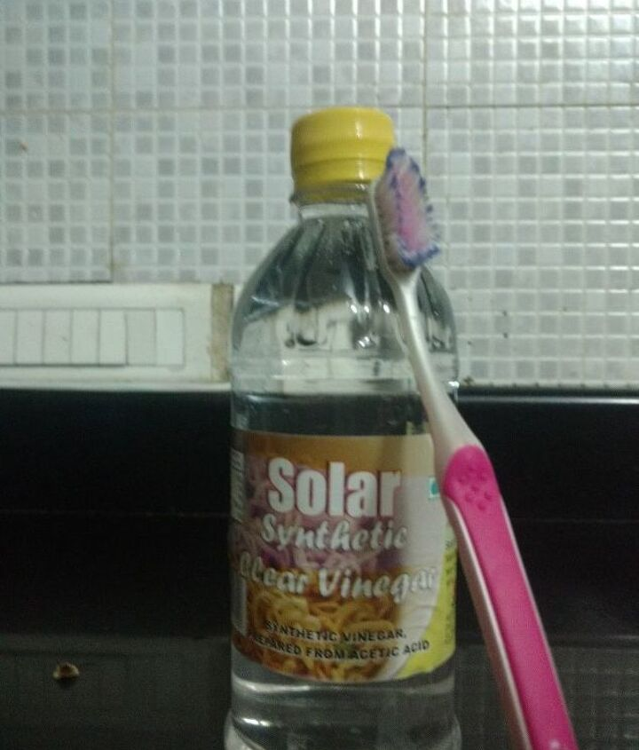 Vinegar and Toothbrush