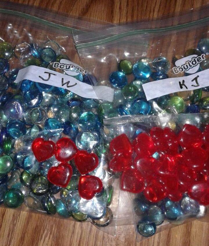 Each child had their own bag of gems