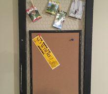 screen door makeover into demand station