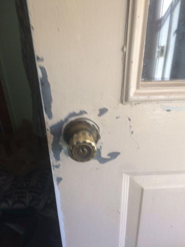 q how to redo a steel door