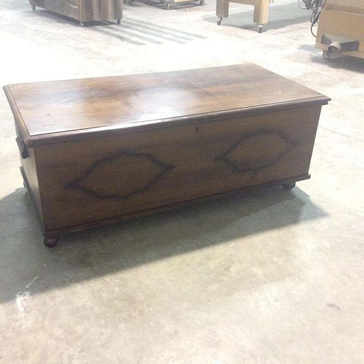 vintage cedar trunk makeover