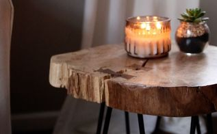 how to make a live edge side table
