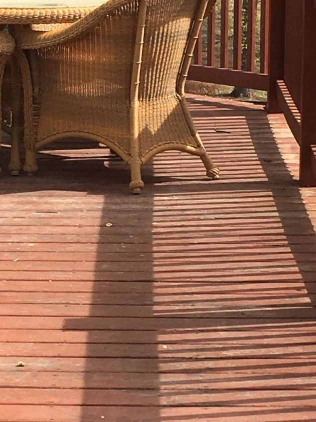 q will any paint cover over the red wood color i have on our deck