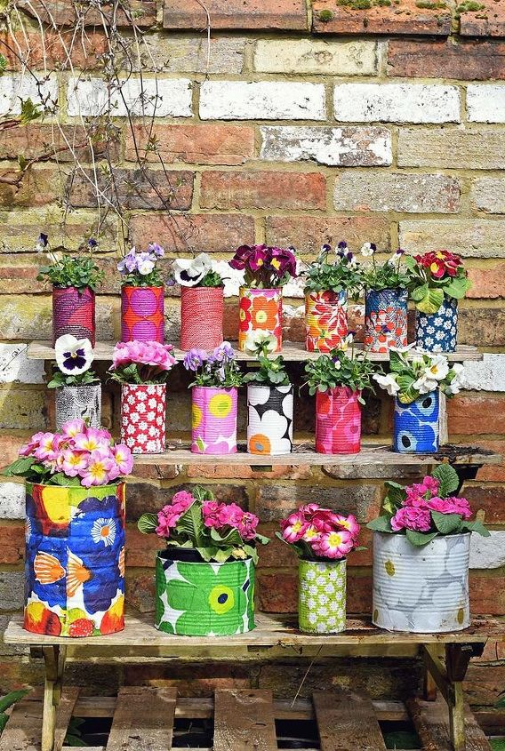 gorgeous colorful planters to brighten up any small garden