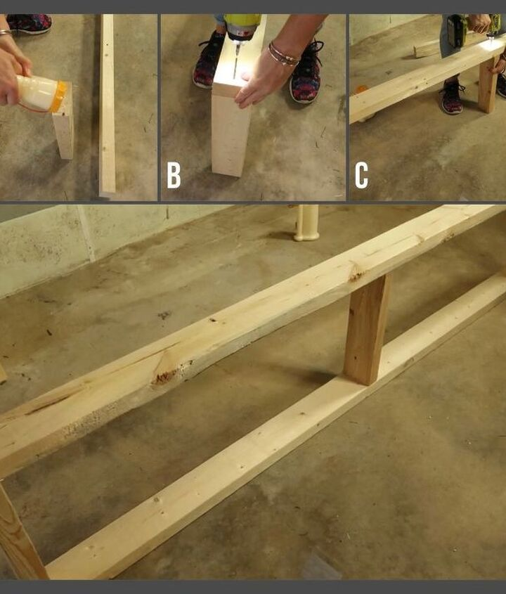simple shelving using two tools