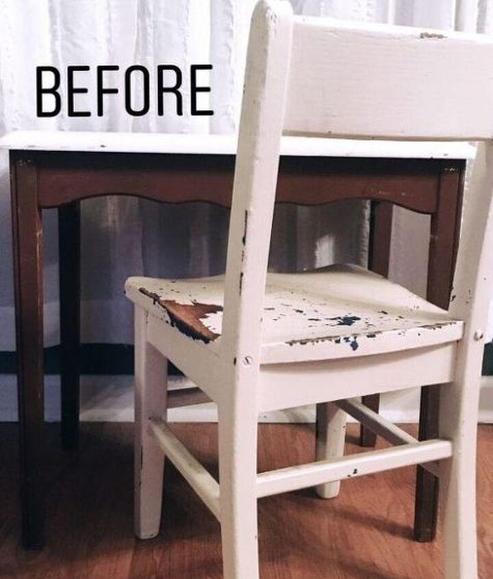 vintage kids desk makeover