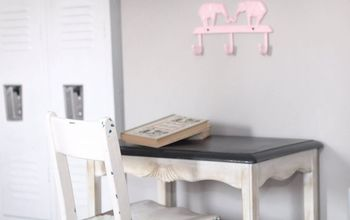 vintage kids desk makeover