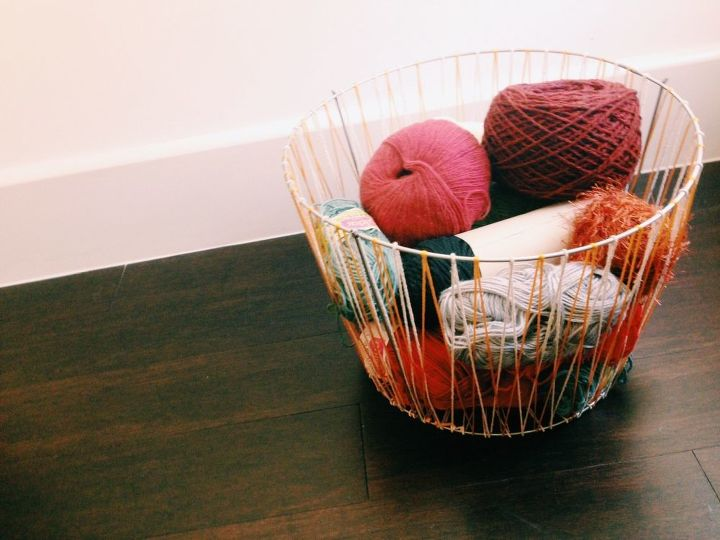 s 15 unconventional ways to use a tomato cage, Turn it into a woven basket