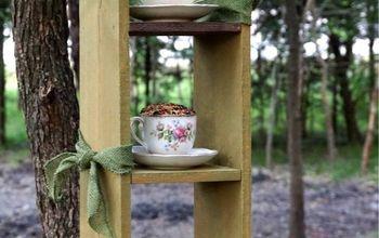trio tea cup bird feeder