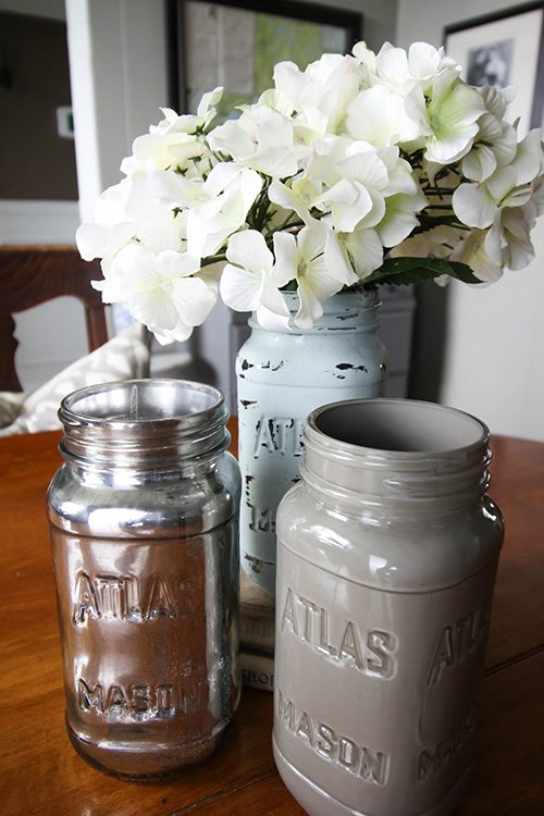 s 15 affordable diy projects you can do right now, Painted Mason Jars