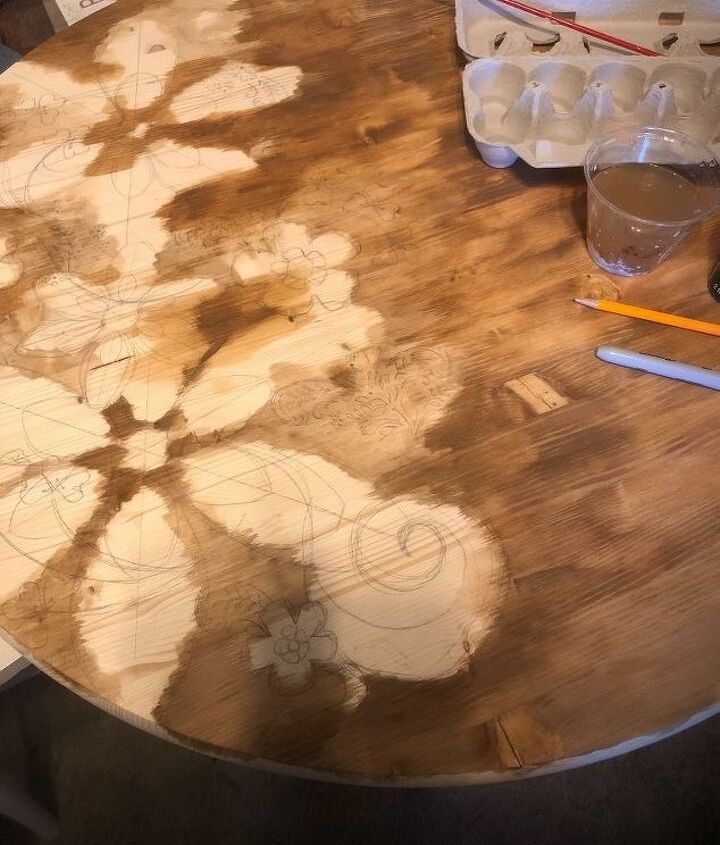 stain over paint table top