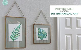 diy pottery barn knock off diy botanical art