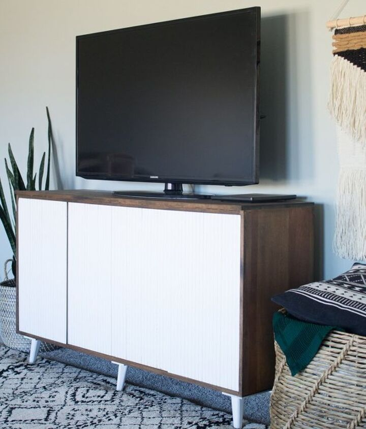how to refinish a mid century credenza