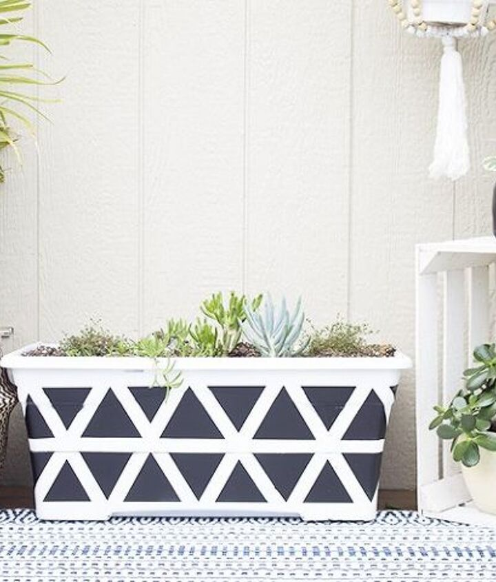 geometric planter diy