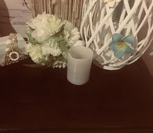 table top off my beside draws for a beachy style