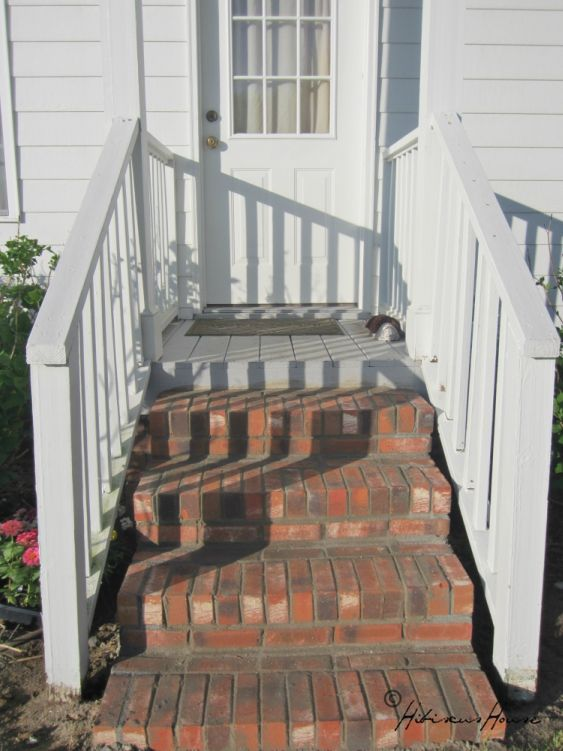 our new back steps