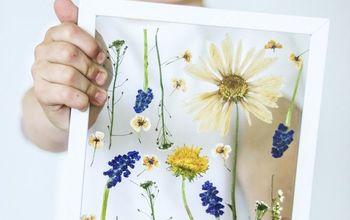 Pressed Flower Art Suncatcher