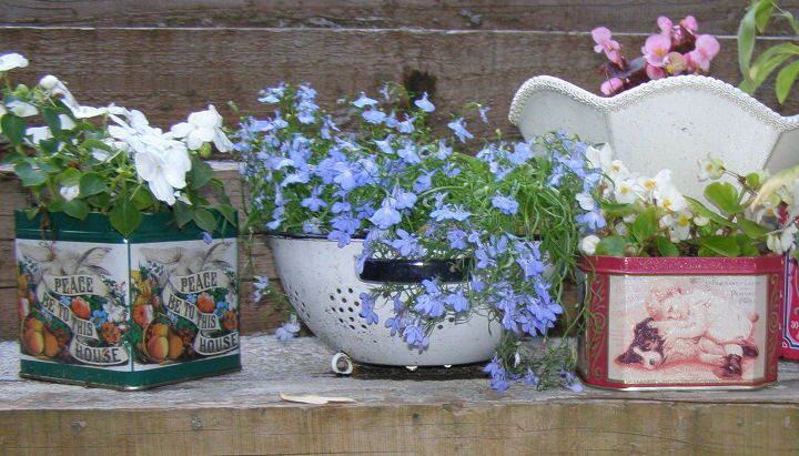 s 15 container garden ideas to kick off spring, Upcycled Planters