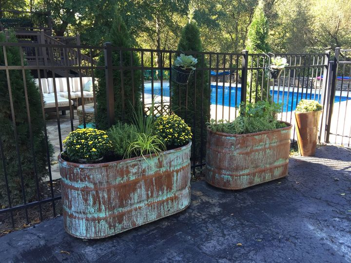 s 15 container garden ideas to kick off spring, Copper and Rust Containers