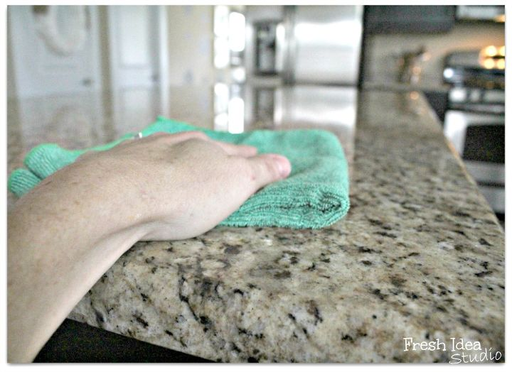 s spring cleaning tricks for the kitchen, Easy Way to Clean Granite