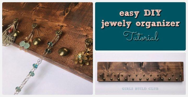 simple diy jewelry organizer
