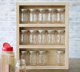Mini Mason Jar Wooden Storage Rack Remodelaholic