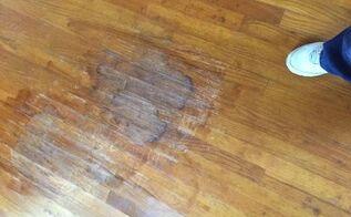 q can you spot finish older hardwood floors
