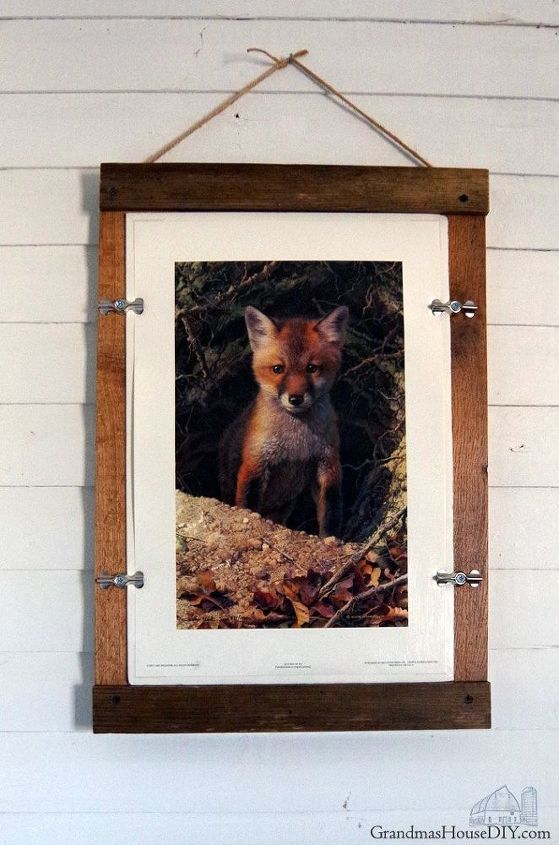 farmhouse picture frame easy wood working diy using barnwood