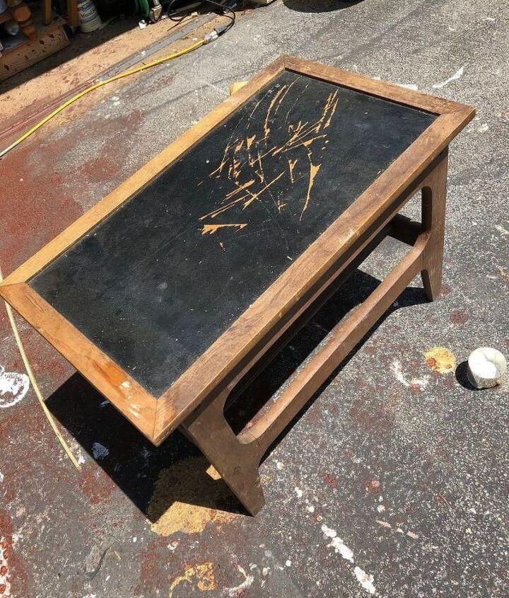mid century modern end table