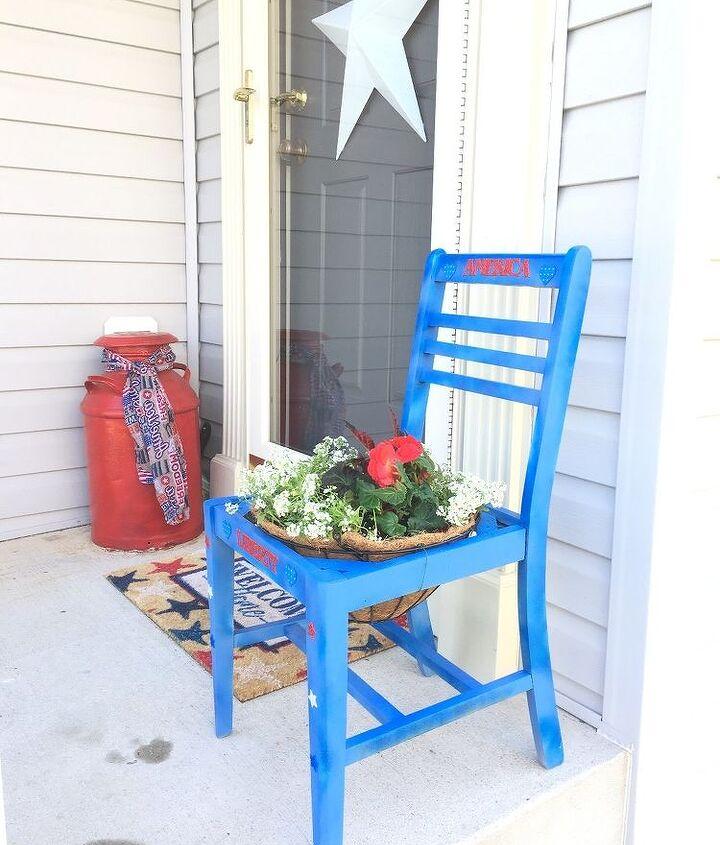 patriotic garden chair