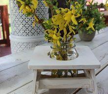 farmhouse style flower table