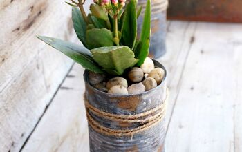 Upcycled Tin Can Planters For Succulents and Other Small Plants