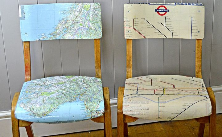 diy personalized map chairs