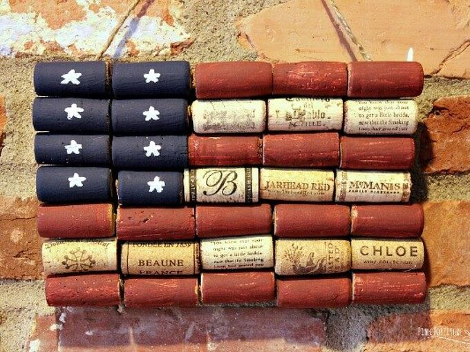 american flag wine cork upcycle craft