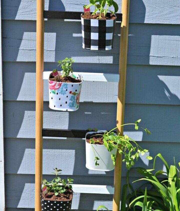 diy herb garden ladder planter