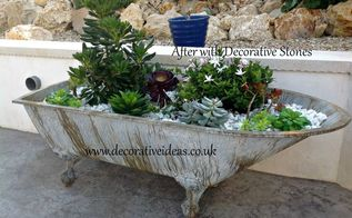 have you tried using an old bath to make into a container garden