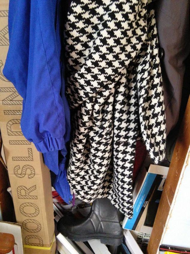 turning a small coat closet into a useful broom utility closet