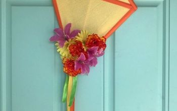 Easy DIY Spring Kite Wreath