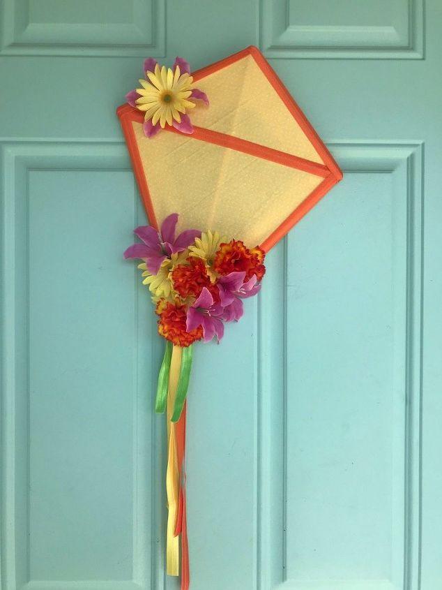 easy diy spring kite wreath