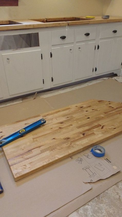 sealing butcher block countertops with dark tung oil a food safe stain hometalk. Black Bedroom Furniture Sets. Home Design Ideas