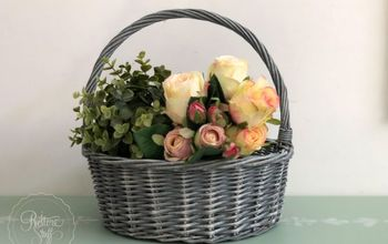 Easy Cane Basket Hack - Update to French Grey Wash Chic