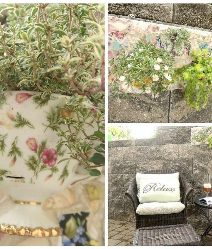 teacup mosaic mini garden