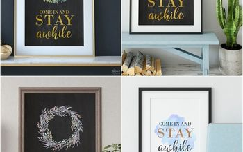 diy stay awhile sign and free printables