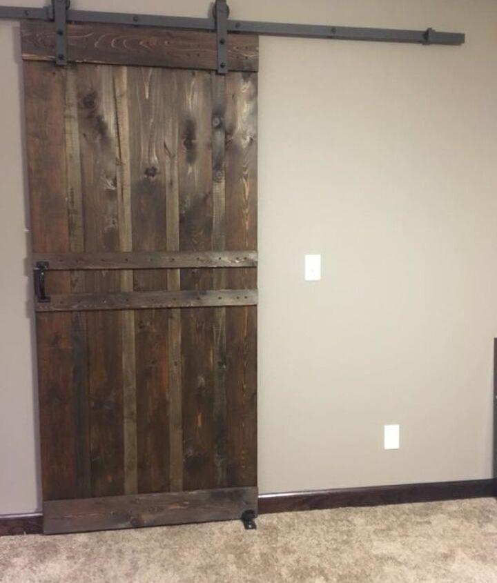industrial look barn door
