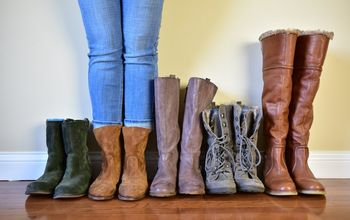Pinterest Hack - Use Pool Noodles to Organize and Store Your Boots!